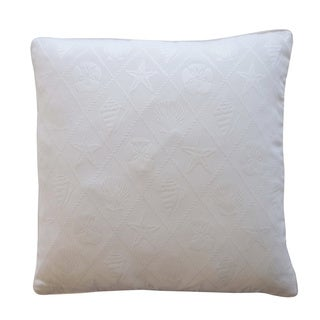 Shell White Nautical 20x20-inch Pillow