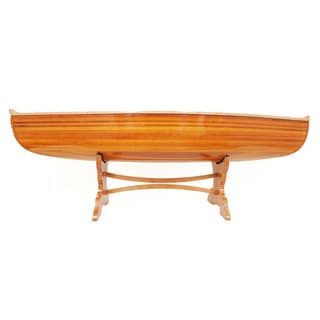 Hand-crafted 5-foot Cedar Wood Canoe Table
