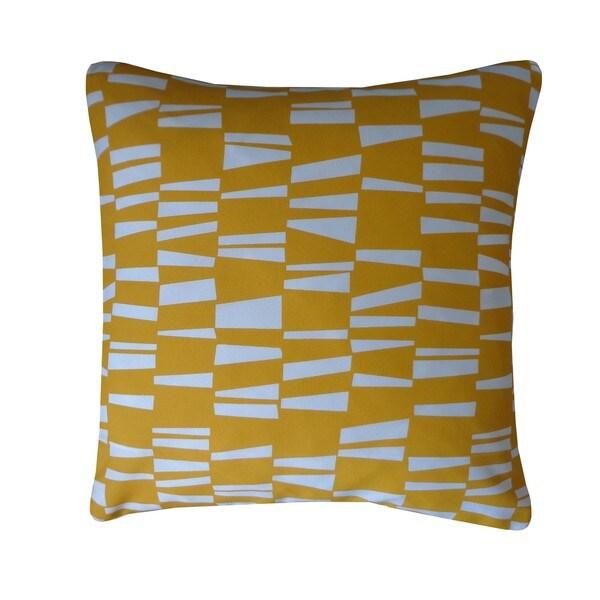 Jiti Angles Yellow Geometric 20x20-inch Pillow