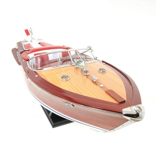 Large Painted RC-ready Aquarama Model Boat