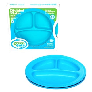 Green Eats Divided Plates (2 Pack) (Option: Blue)