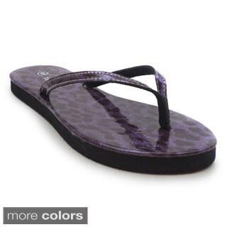 Blue Women's 'Zambo Spots' Flip-flop Sandal