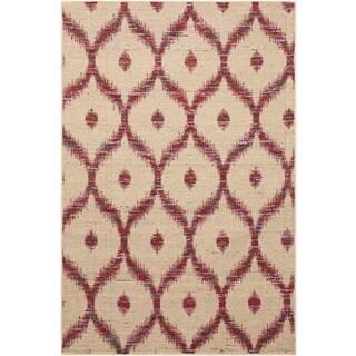 Nourison Spectrum Beige Burgundy Rug (8' x 10'6)