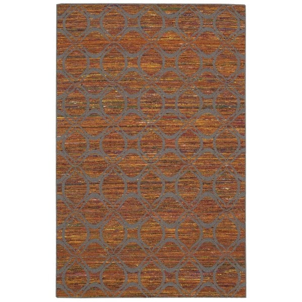 Nourison Spectrum Flame Grey Rug (8' x 10'6)