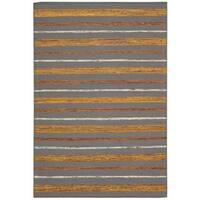 Nourison Spectrum Flame Grey Rug (5'3 x 7'5) - 5'3 x 7'5