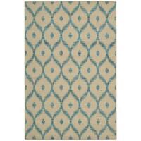 Nourison Spectrum Beige Turquoise Rug (2'6 x 4')