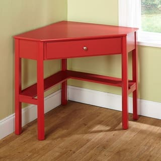 simple living ellen red corner desk - Home Office Corner Desk