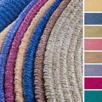 Soft Chenille Braided Reversible Rug USA MADE - 5' x 7'