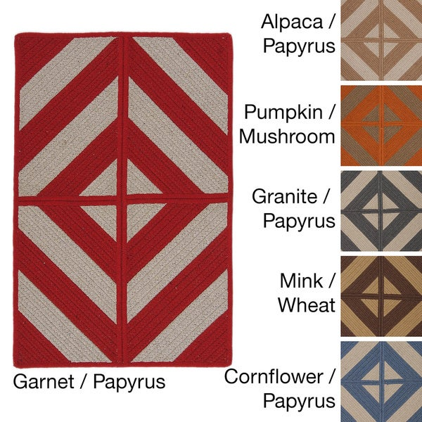 Sunbrella Diamond Indoor/Outdoor Performance Reversible Rug USA MADE - 8' x 10'