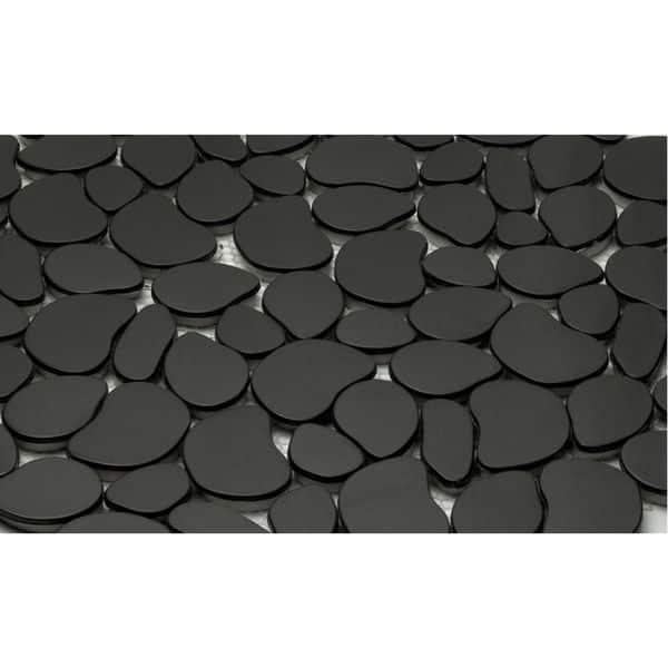 Black Pebble Mosaic Backsplash