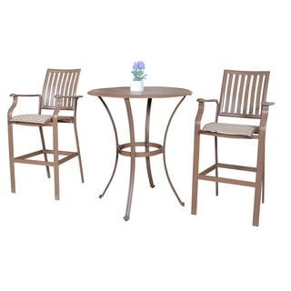 Panama Jack Island Breeze 3-piece Slatted Pub Table Set