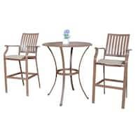 Panama Jack Island Breeze 3-piece Slatted Pub Table Set