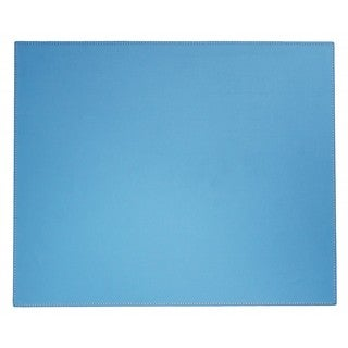 Sky Blue Faux Leather Table Mat