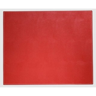 Rossa Red Faux Leather Table Mat