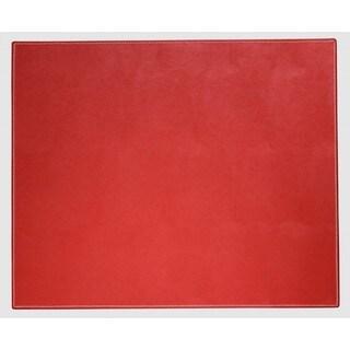bonded leather desk set 6 piece pink. Rossa Red Faux Leather Table Mat Bonded Desk Set 6 Piece Pink I