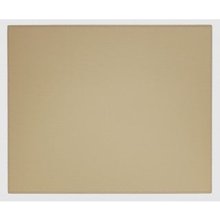 Sandy Tan Faux Leather Table Mat