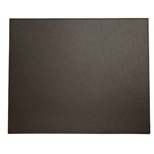 Shop Espresso Brown Faux Leather Table Mat Free Shipping