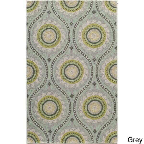 Momeni Suzani Hook Grey Hand-Hooked Wool Rug (2' X 3')