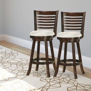 CorLiving Woodgrove 43-inch Cappuccino Wood Bar Stool (Set of 2)