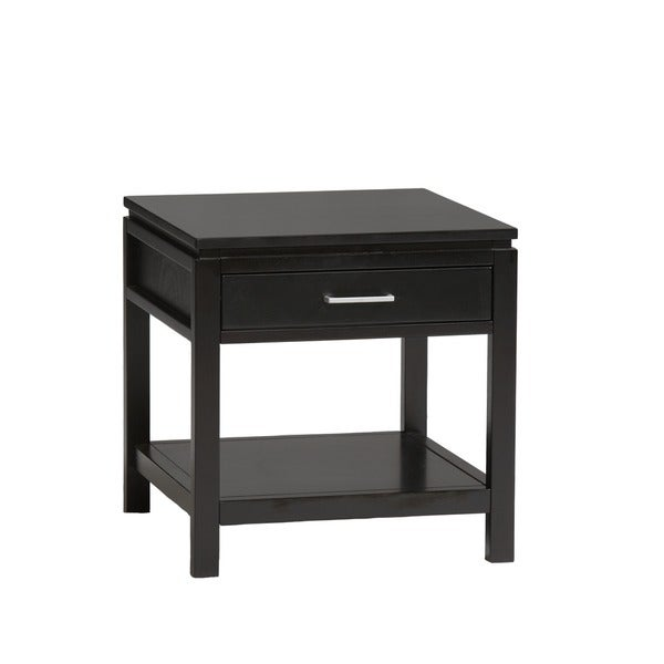Beautiful Linon Taylor Contemporary Jet Black End Table   Free Shipping Today    Overstock.com   16353145