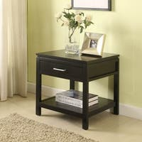 Porch & Den Prospect Hill Medford Contemporary Jet Black End Table