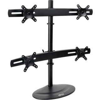 "Tripp Lite Quad Display TV Desk Mount Monitor Stand Swivel Tilt 10"" t"