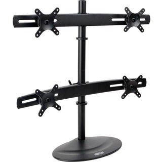 "Tripp Lite Quad Display TV Desk Mount Monitor Stand Swivel Tilt 10"" t"