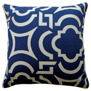 Lattice Blue Geometric 20x20-inch Pillow