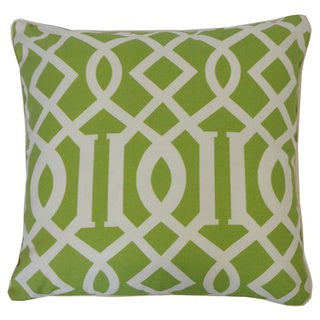 Lattice Lime Geometric 20x20 Inch Pillow