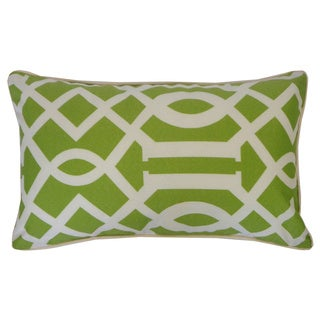 Lattice Lime Geometric 12x20-inch Pillow