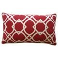 Lattice Red Geometric 12x20-inch Pillow
