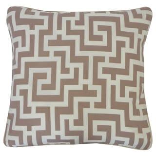 Tetris Taupe Geometric 20x20-inch Pillow