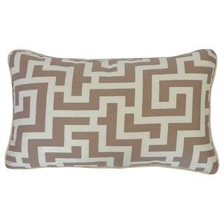 Tetris Taupe Geometric 12x20-inch Pillow