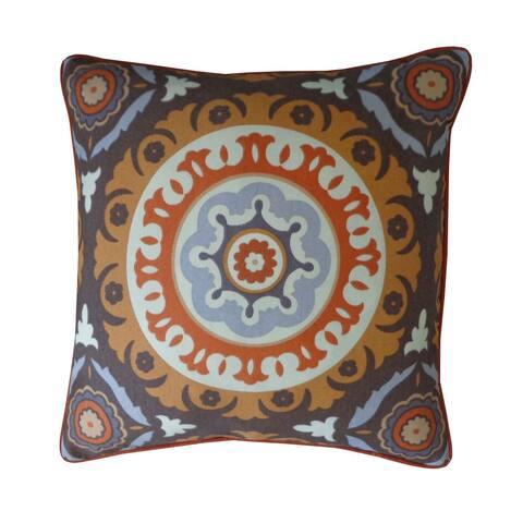 "Handmade Zanihe Orange Geometric Pillow - 20"" x 20"""