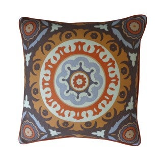 Zanihe Orange Geometric 20x20-inch Pillow