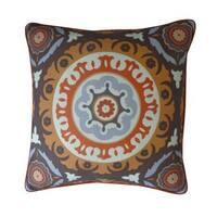 Zanihe Orange Geometric 20x20-inch Pillow