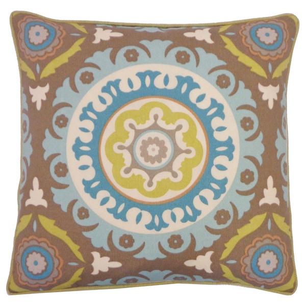 """Handmade Zanihe Green Geometric Pillow - 20"""" x 20"""""""