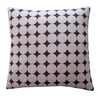Disco Pink Kids Polka Dot 20x20-inch Pillow