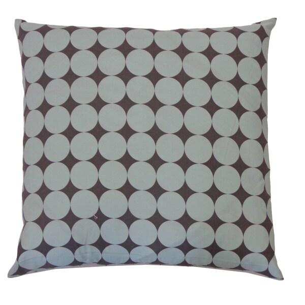 "Handmade Disco Blue Kids Polka Dot Pillow - 20"" x 20"""