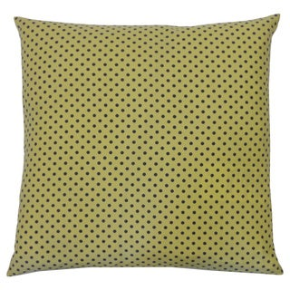 Pin Yellow Kids Polka Dot 20x20-inch Pillow