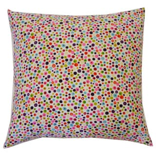 Splash Pink Kids Polka Dot 20x20-inch Pillow