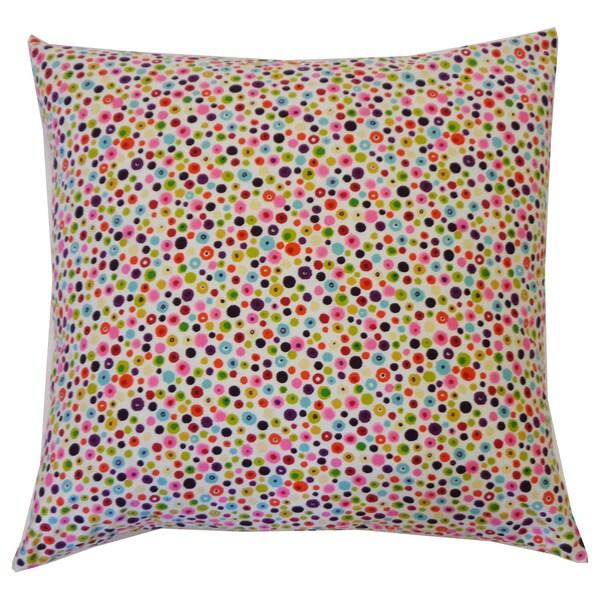Splash Pink Kids Polka Dot 20x20-inch Pillow