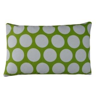 Polka Dot Lime Kids Polka Dot 12x20-inch Pillow