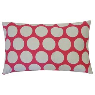 Polka Dot Pink Kids Polka Dot 12x20-inch Pillow
