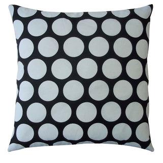 Polka Dot Black Kids Polka Dot 20x20-inch Pillow