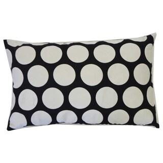 Polka Dot Black Kids Pillow Polka Dot 12x20-inch Pillow
