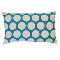 Polka Aqua Kids Polka Dot 12x20-inch Pillow