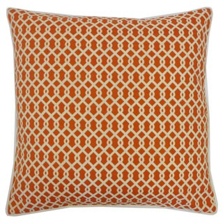 Grid Orange Geometric 20x20-inch Pillow