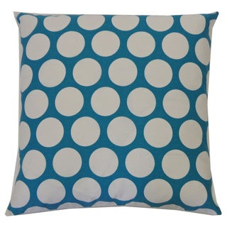 Polka Dot Aqua Kids Polka Dot 20x20-inch Pillow