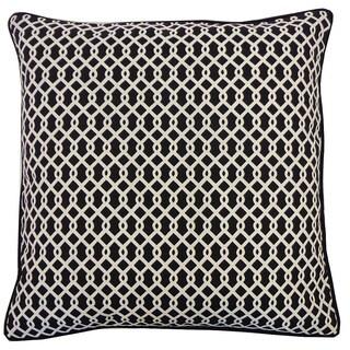 Grid Black Geometric 20x20-inch Pillow